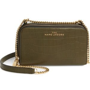 The Marc Jacobs Croc Embossed Leather Crossbody